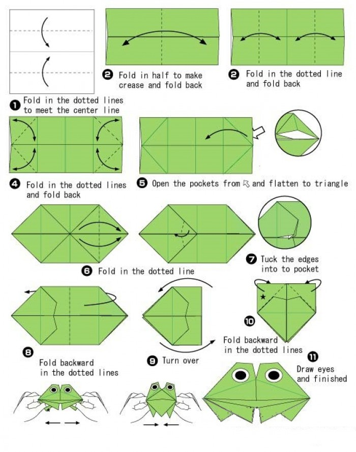 Оригами лягушка. Оригами из бумаги лягушка. Лягушка 68